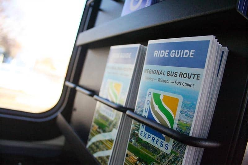 Ride Guide Brochures in Seat Back
